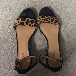 Jcrew sandals- animal print